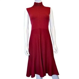 AKRIS PUNTO | Sleeveless Wool Shift Dress